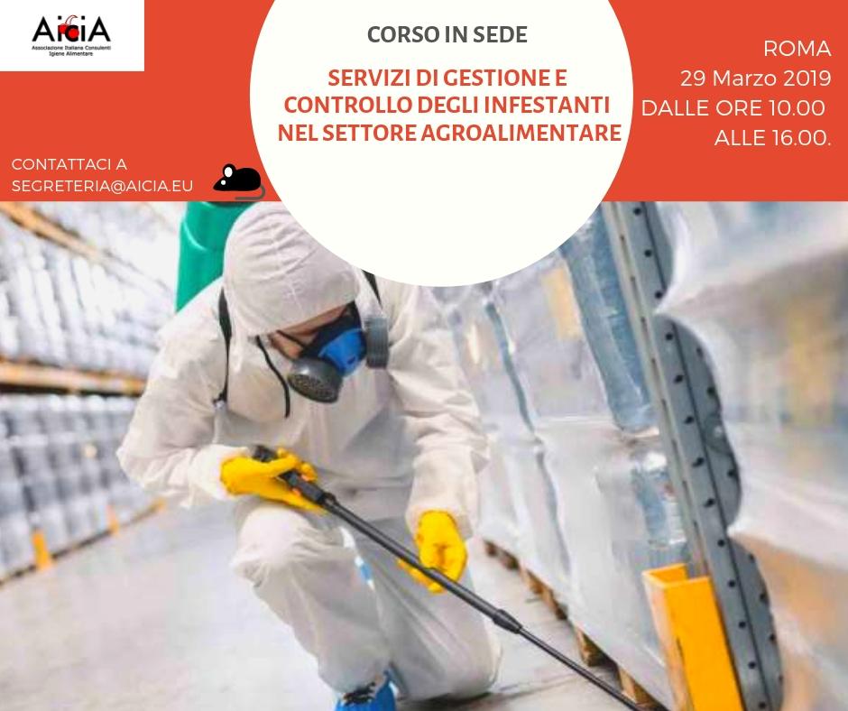 Servizi di gestione e controllo degli infestanti nel settore agroalimentare